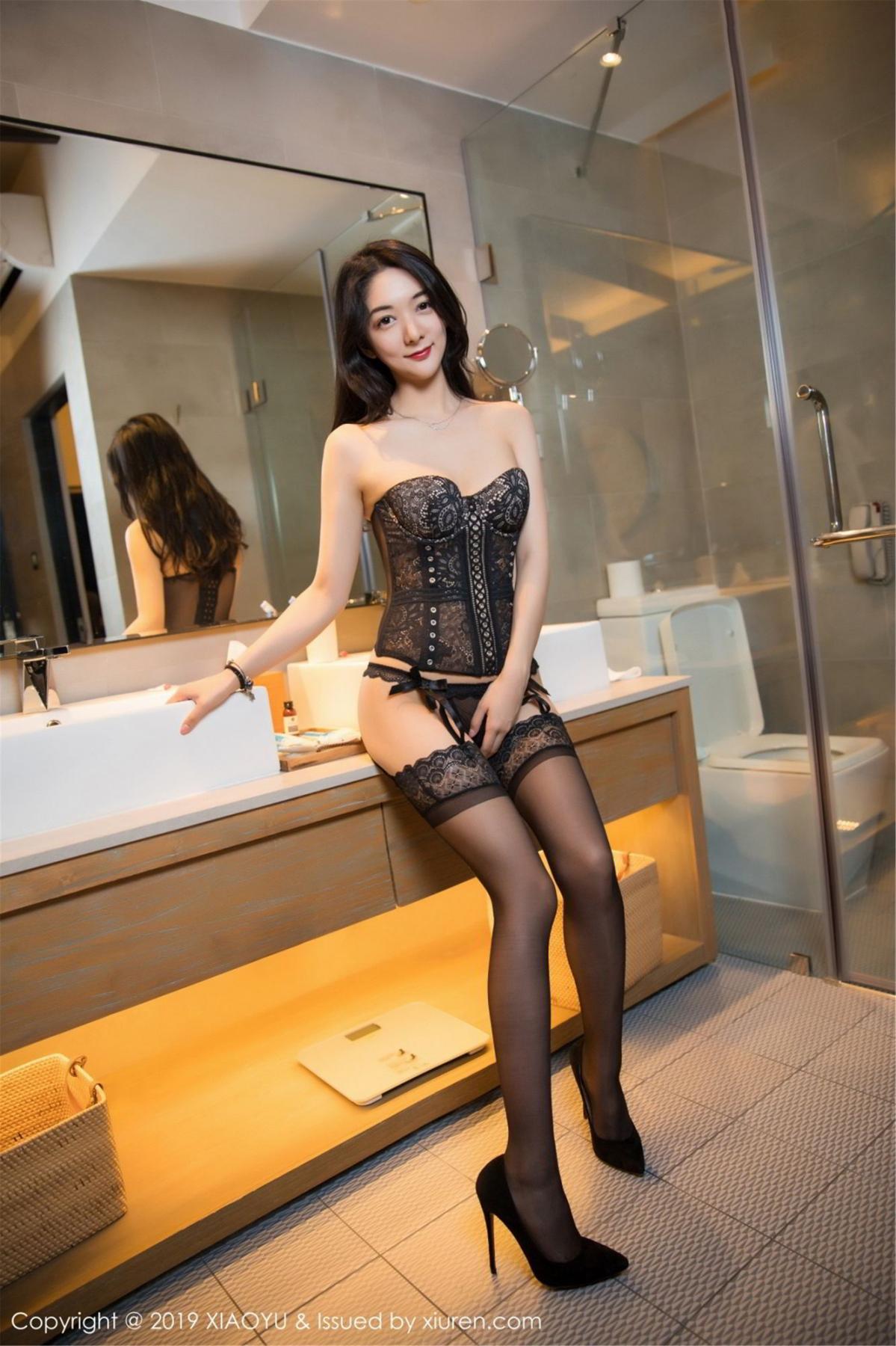 [XiaoYu] Vol.088 Di Yi 39P, Big Booty, Black Silk, Cheongsam, Di Yi, Tall, XiaoYu