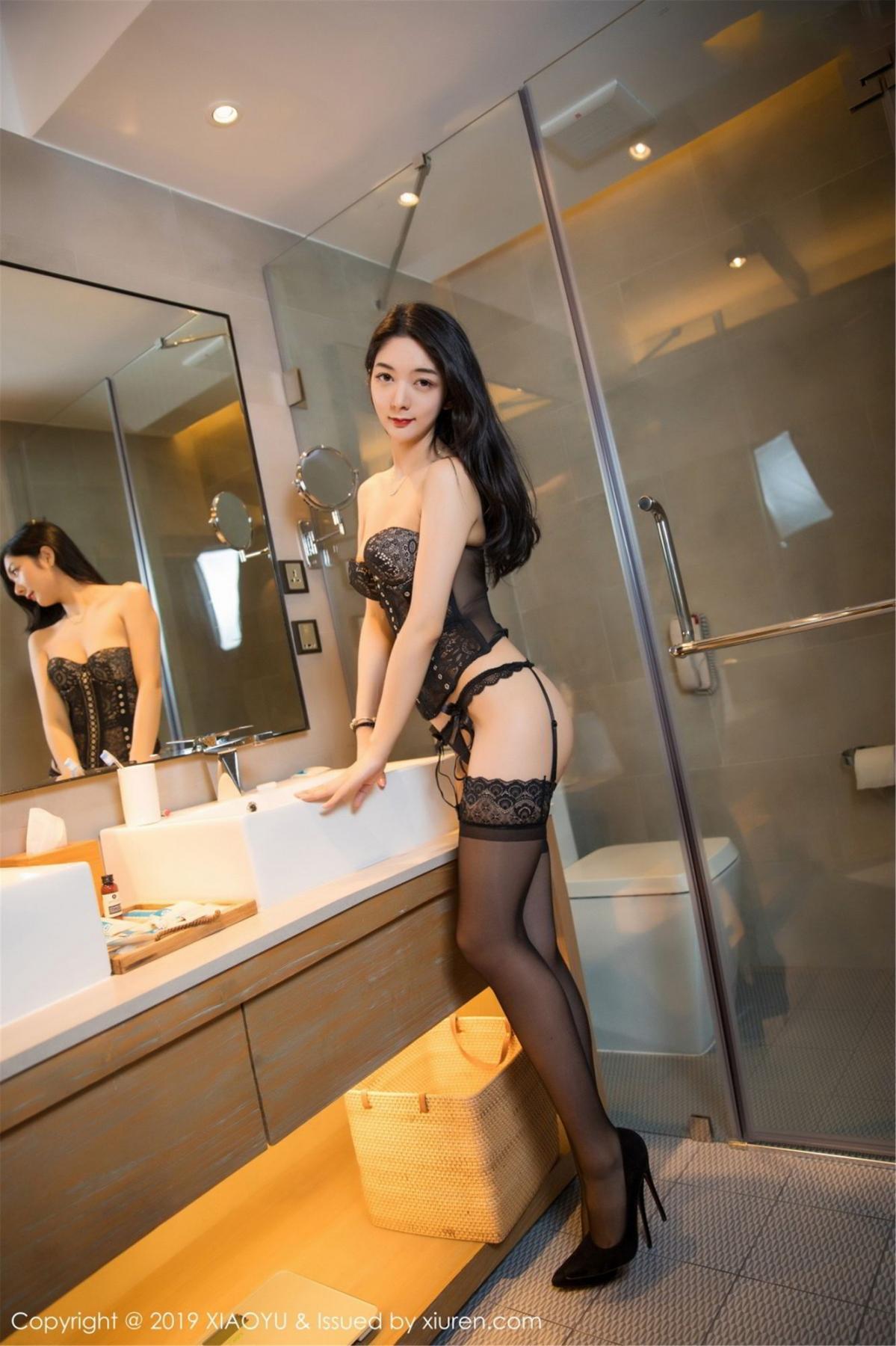 [XiaoYu] Vol.088 Di Yi 40P, Big Booty, Black Silk, Cheongsam, Di Yi, Tall, XiaoYu