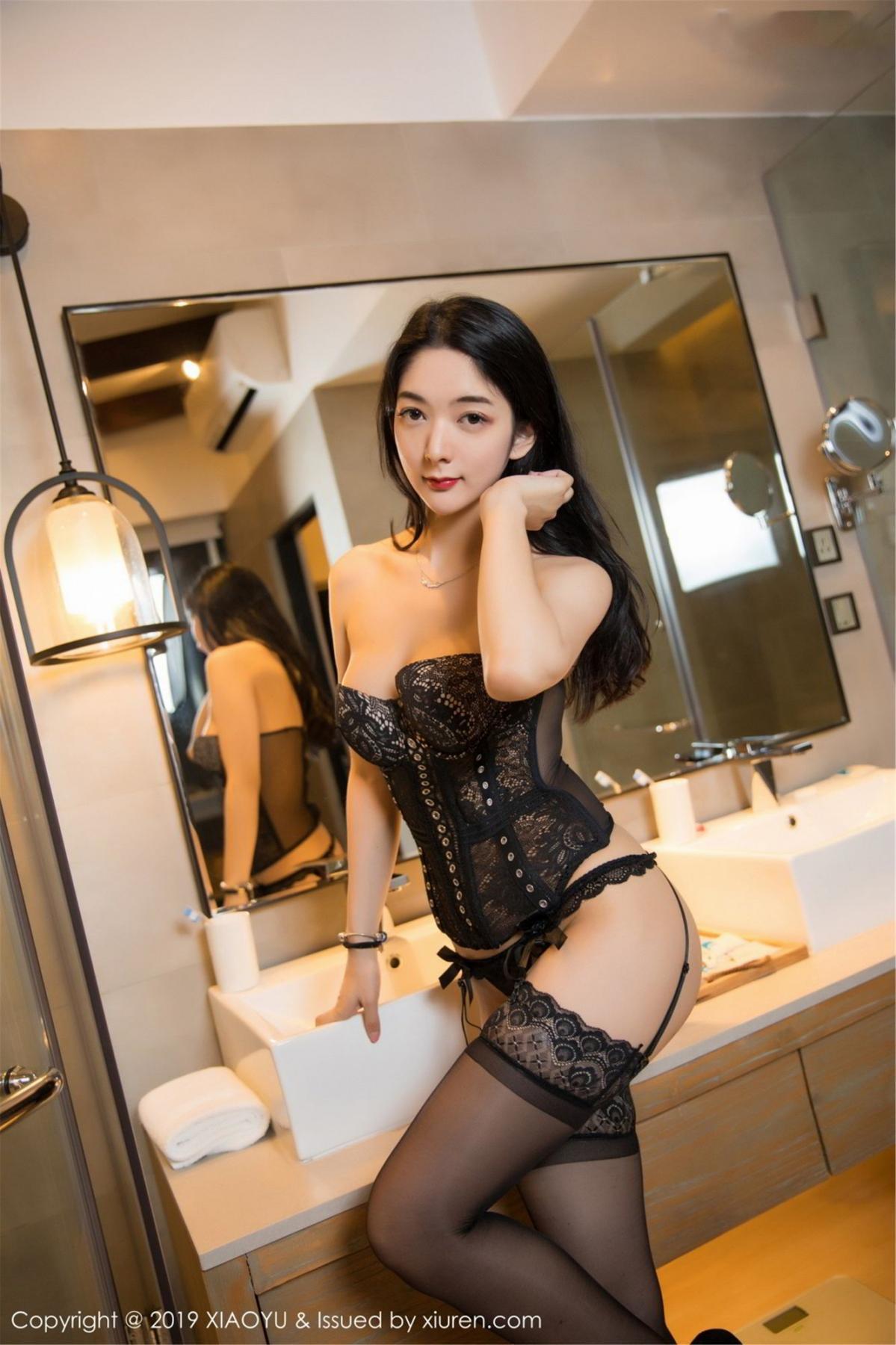 [XiaoYu] Vol.088 Di Yi 46P, Big Booty, Black Silk, Cheongsam, Di Yi, Tall, XiaoYu