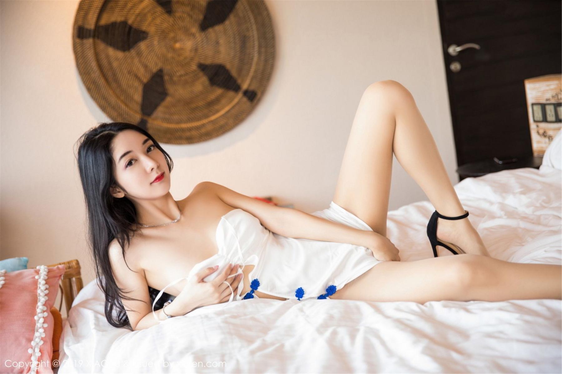 [XiaoYu] Vol.088 Di Yi 4P, Big Booty, Black Silk, Cheongsam, Di Yi, Tall, XiaoYu