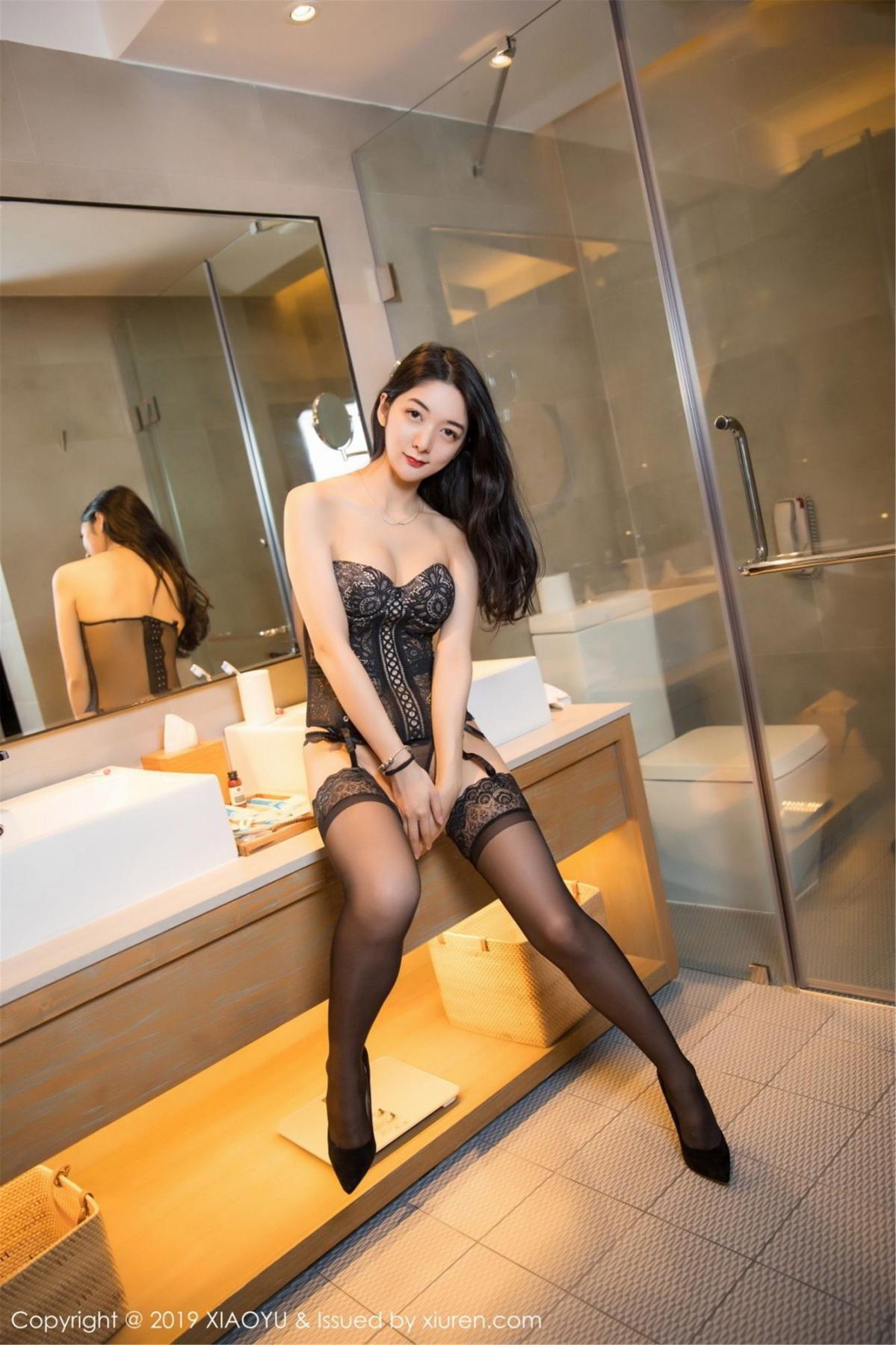 [XiaoYu] Vol.088 Di Yi 56P, Big Booty, Black Silk, Cheongsam, Di Yi, Tall, XiaoYu