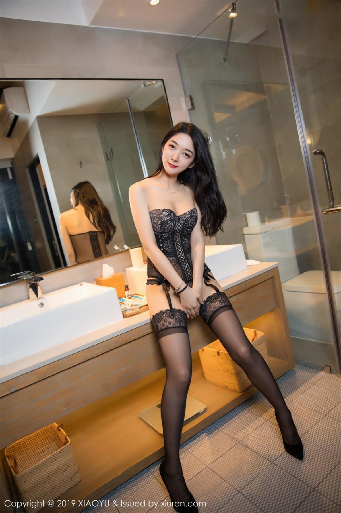 [XiaoYu] Vol.088 Di Yi 57P, Big Booty, Black Silk, Cheongsam, Di Yi, Tall, XiaoYu