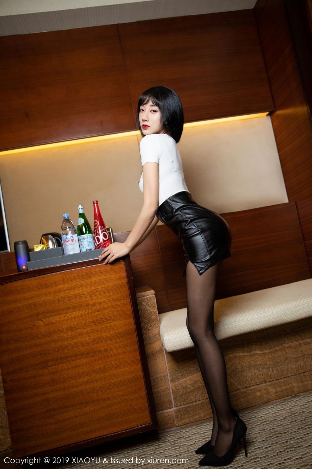 [XiaoYu] Vol.092 He Jia Ying 10P, Black Silk, He Jia Ying, Tall, Underwear, XiaoYu