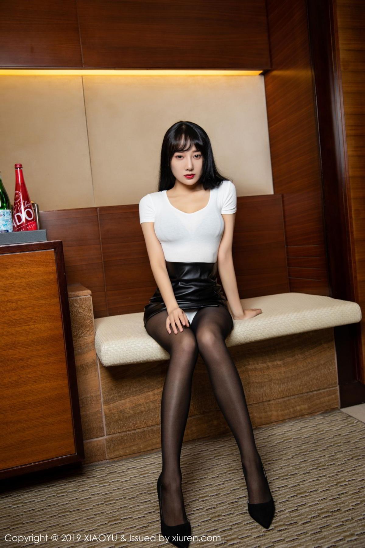 [XiaoYu] Vol.092 He Jia Ying 11P, Black Silk, He Jia Ying, Tall, Underwear, XiaoYu