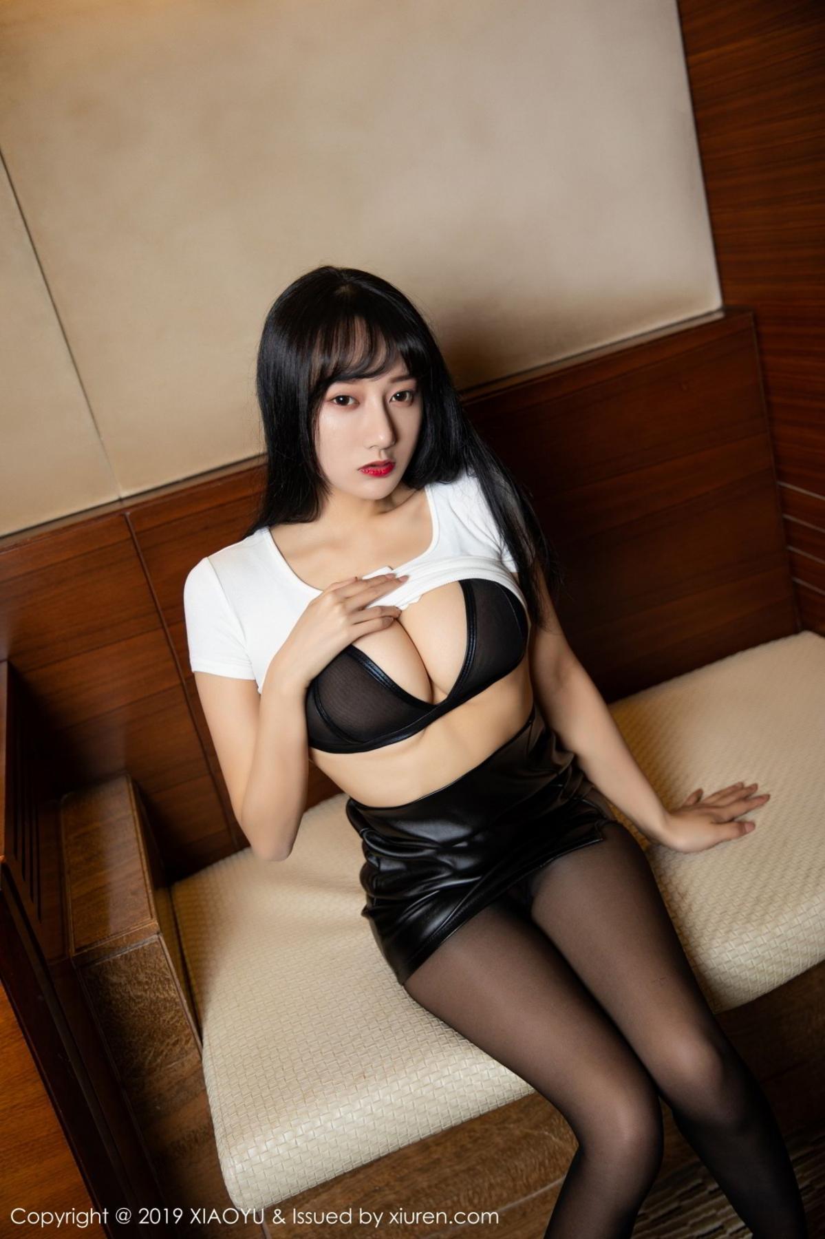 [XiaoYu] Vol.092 He Jia Ying 12P, Black Silk, He Jia Ying, Tall, Underwear, XiaoYu