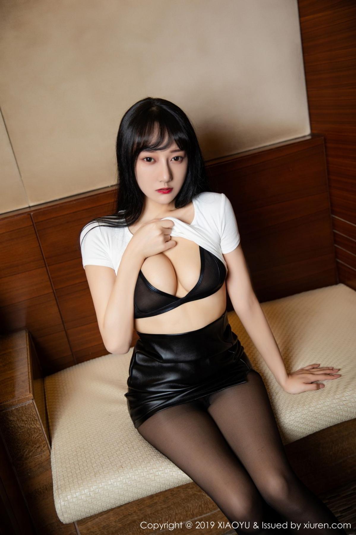 [XiaoYu] Vol.092 He Jia Ying 13P, Black Silk, He Jia Ying, Tall, Underwear, XiaoYu