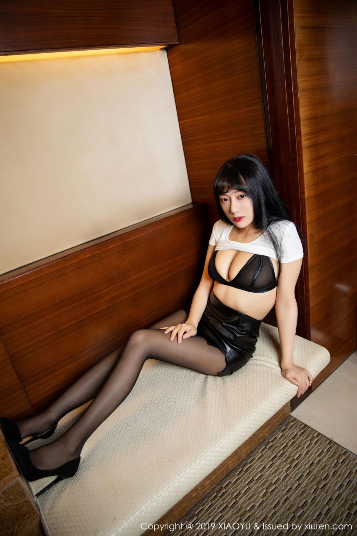 [XiaoYu] Vol.092 He Jia Ying 16P, Black Silk, He Jia Ying, Tall, Underwear, XiaoYu