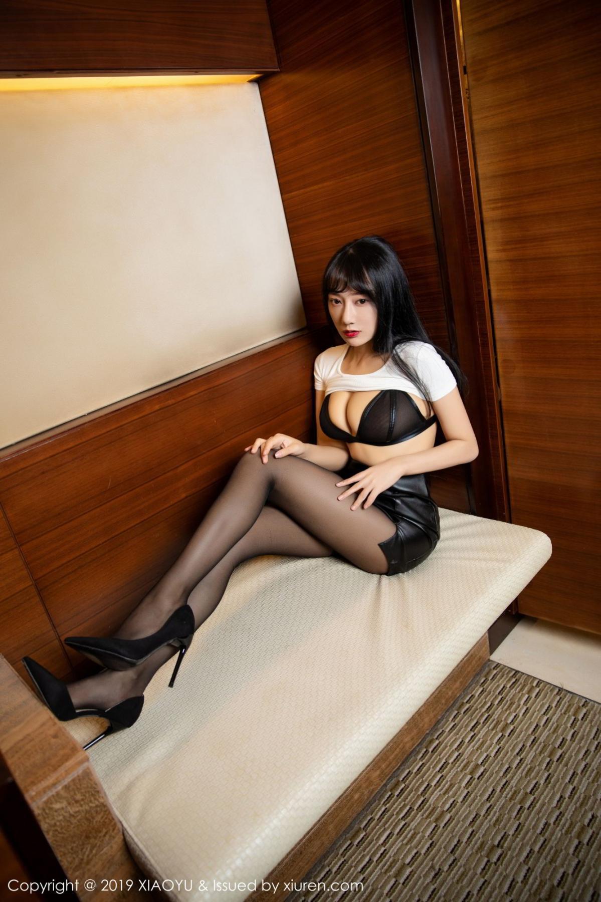[XiaoYu] Vol.092 He Jia Ying 17P, Black Silk, He Jia Ying, Tall, Underwear, XiaoYu