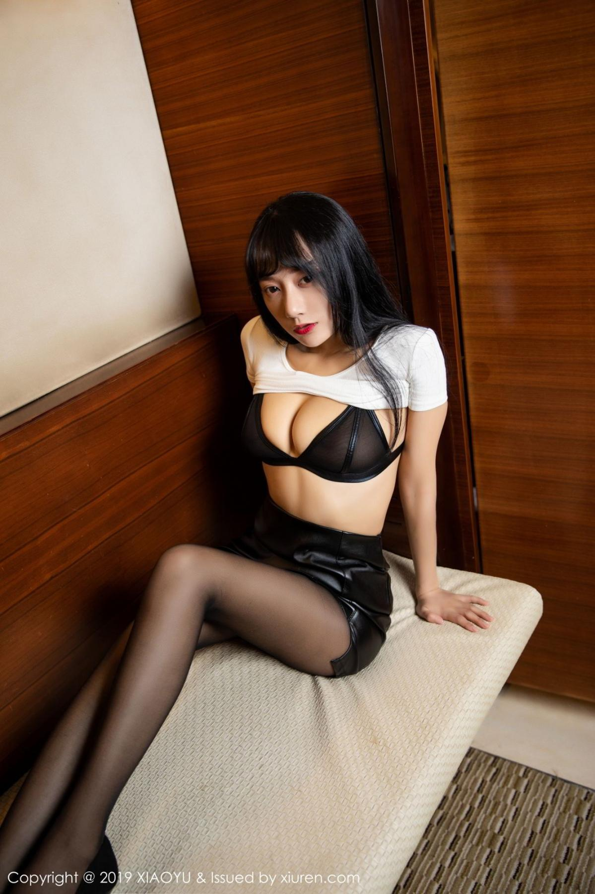 [XiaoYu] Vol.092 He Jia Ying 18P, Black Silk, He Jia Ying, Tall, Underwear, XiaoYu