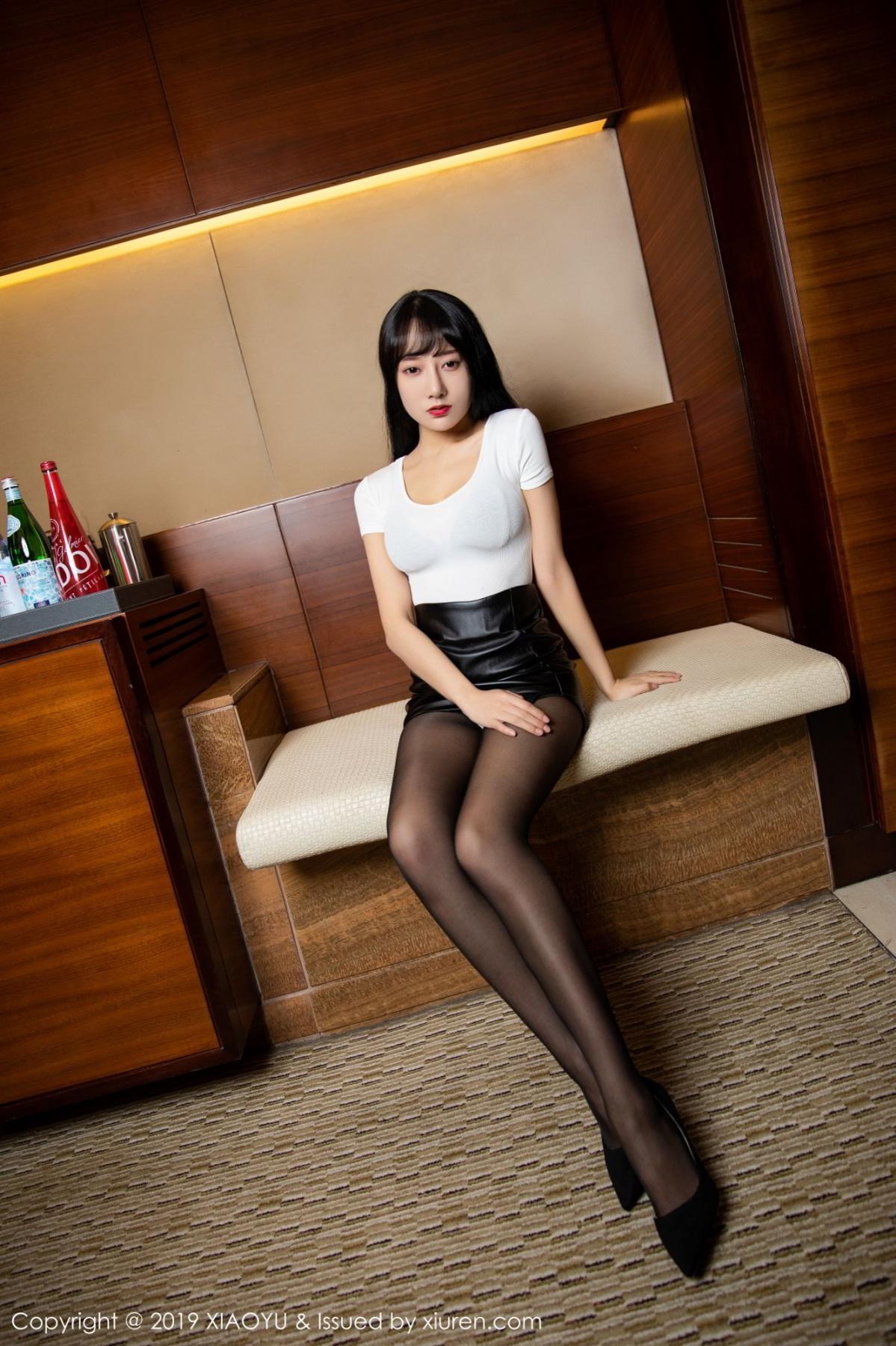 [XiaoYu] Vol.092 He Jia Ying 1P, Black Silk, He Jia Ying, Tall, Underwear, XiaoYu