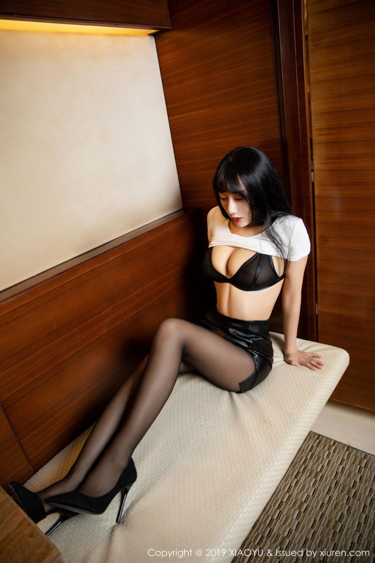 [XiaoYu] Vol.092 He Jia Ying 20P, Black Silk, He Jia Ying, Tall, Underwear, XiaoYu