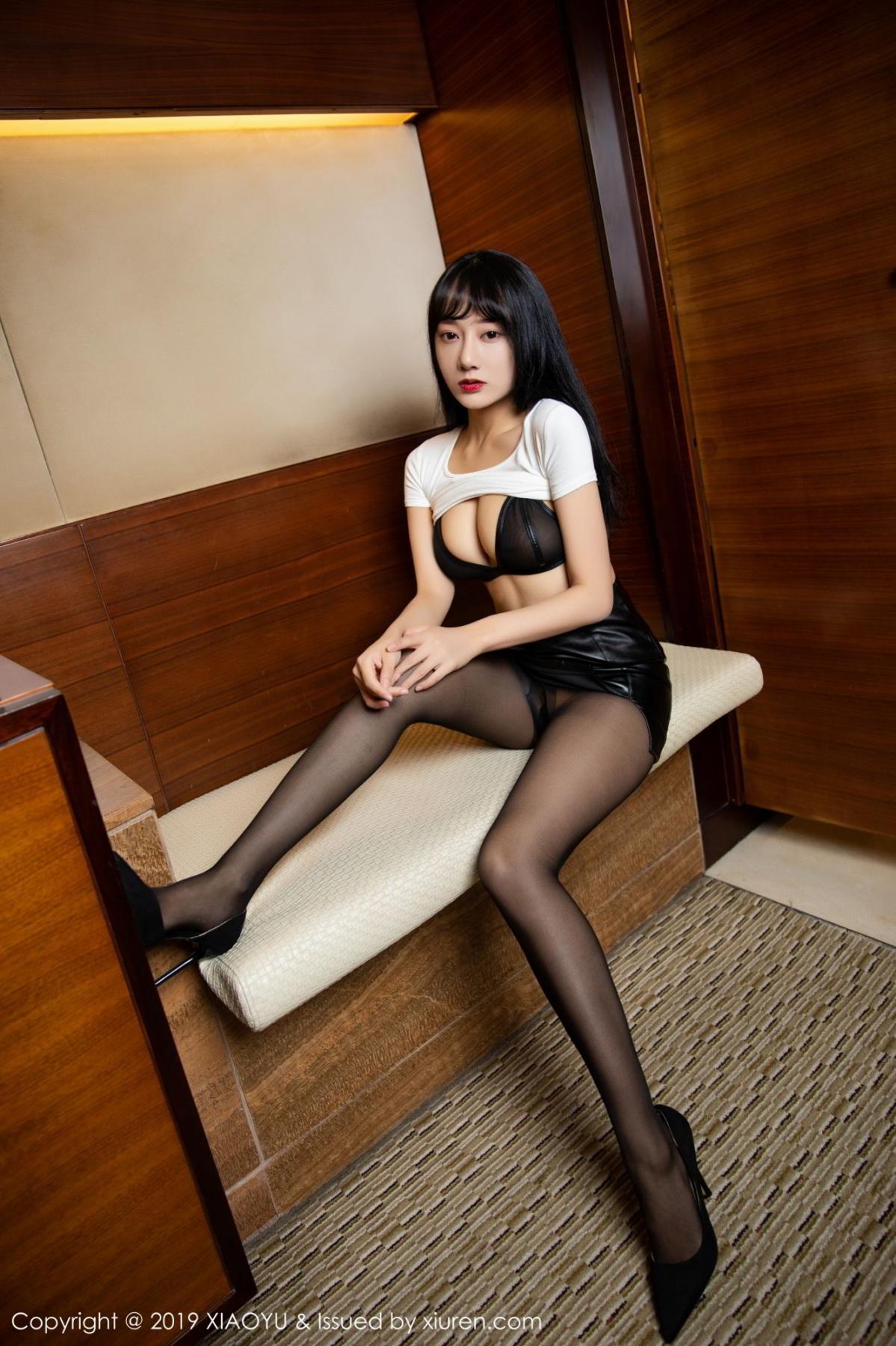[XiaoYu] Vol.092 He Jia Ying 21P, Black Silk, He Jia Ying, Tall, Underwear, XiaoYu