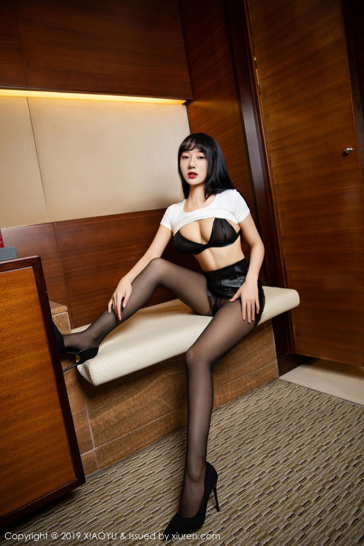 [XiaoYu] Vol.092 He Jia Ying 24P, Black Silk, He Jia Ying, Tall, Underwear, XiaoYu