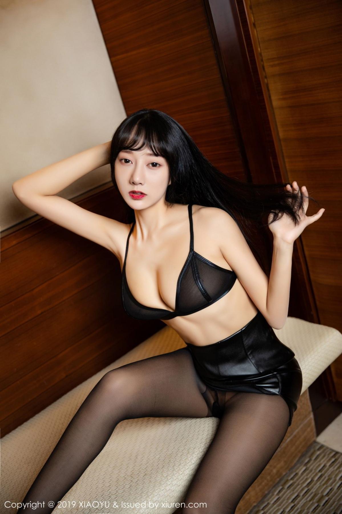 [XiaoYu] Vol.092 He Jia Ying 25P, Black Silk, He Jia Ying, Tall, Underwear, XiaoYu
