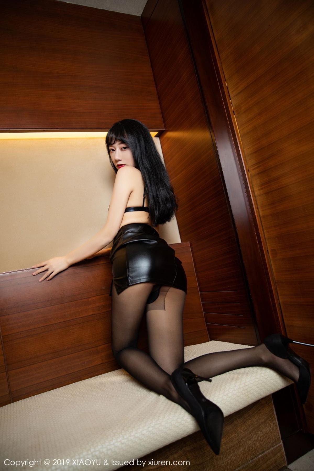 [XiaoYu] Vol.092 He Jia Ying 26P, Black Silk, He Jia Ying, Tall, Underwear, XiaoYu