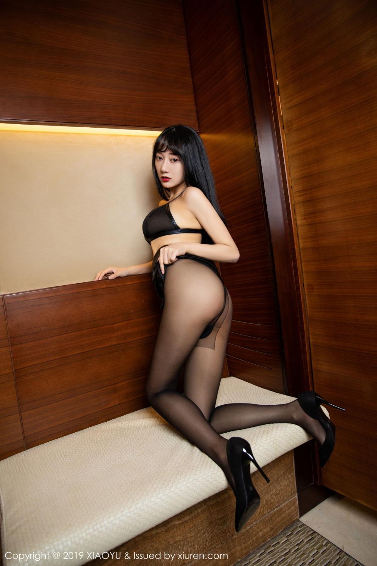 [XiaoYu] Vol.092 He Jia Ying 27P, Black Silk, He Jia Ying, Tall, Underwear, XiaoYu