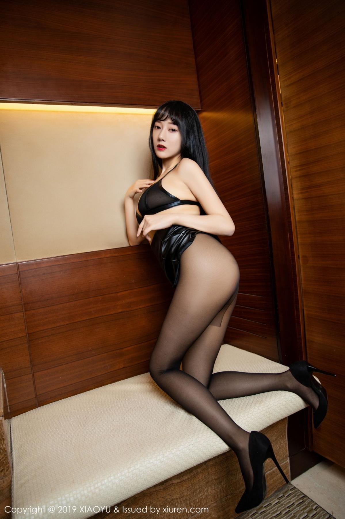 [XiaoYu] Vol.092 He Jia Ying 28P, Black Silk, He Jia Ying, Tall, Underwear, XiaoYu