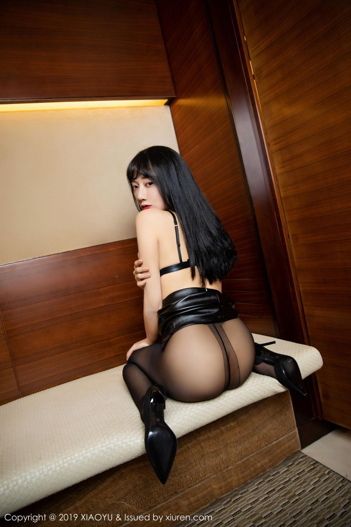 [XiaoYu] Vol.092 He Jia Ying 29P, Black Silk, He Jia Ying, Tall, Underwear, XiaoYu
