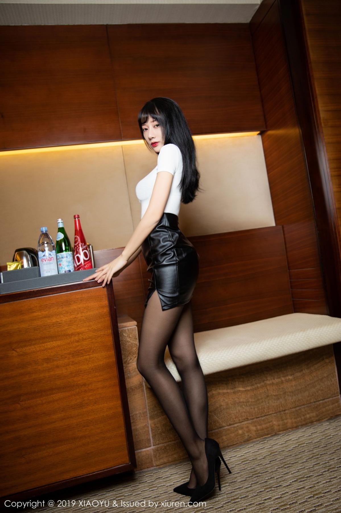 [XiaoYu] Vol.092 He Jia Ying 2P, Black Silk, He Jia Ying, Tall, Underwear, XiaoYu