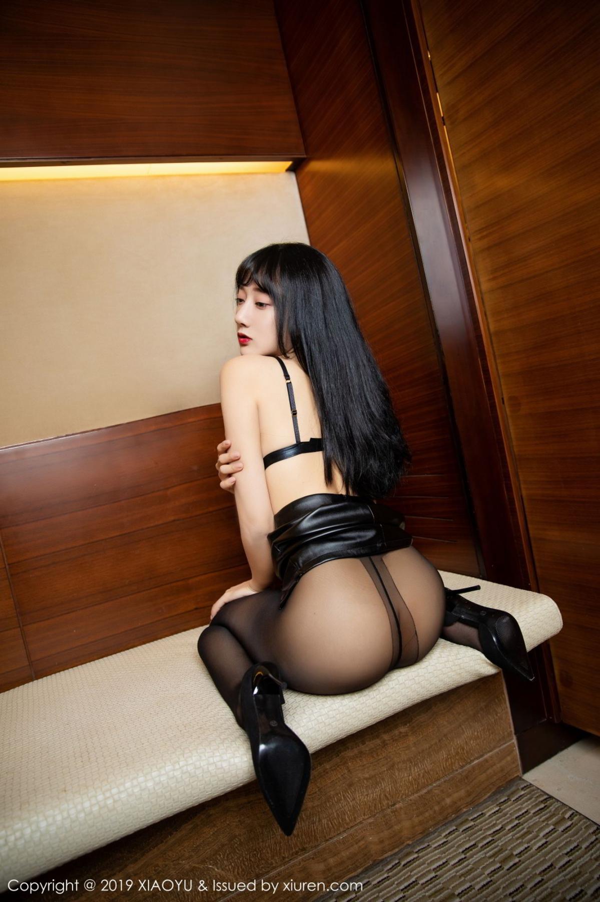 [XiaoYu] Vol.092 He Jia Ying 30P, Black Silk, He Jia Ying, Tall, Underwear, XiaoYu