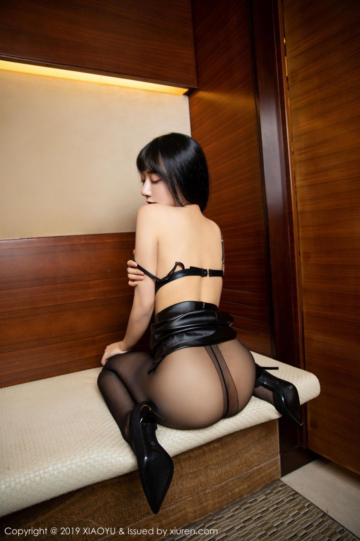 [XiaoYu] Vol.092 He Jia Ying 31P, Black Silk, He Jia Ying, Tall, Underwear, XiaoYu