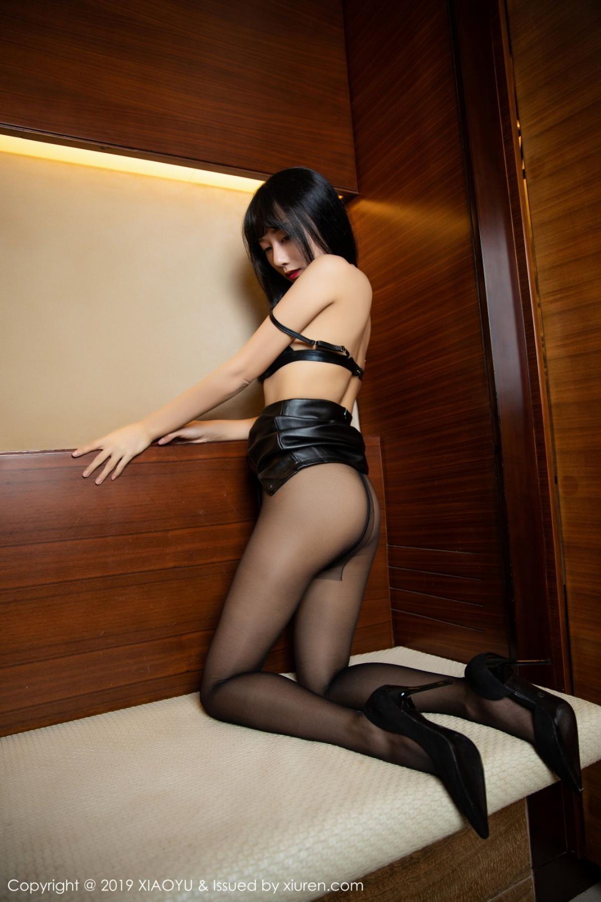 [XiaoYu] Vol.092 He Jia Ying 34P, Black Silk, He Jia Ying, Tall, Underwear, XiaoYu