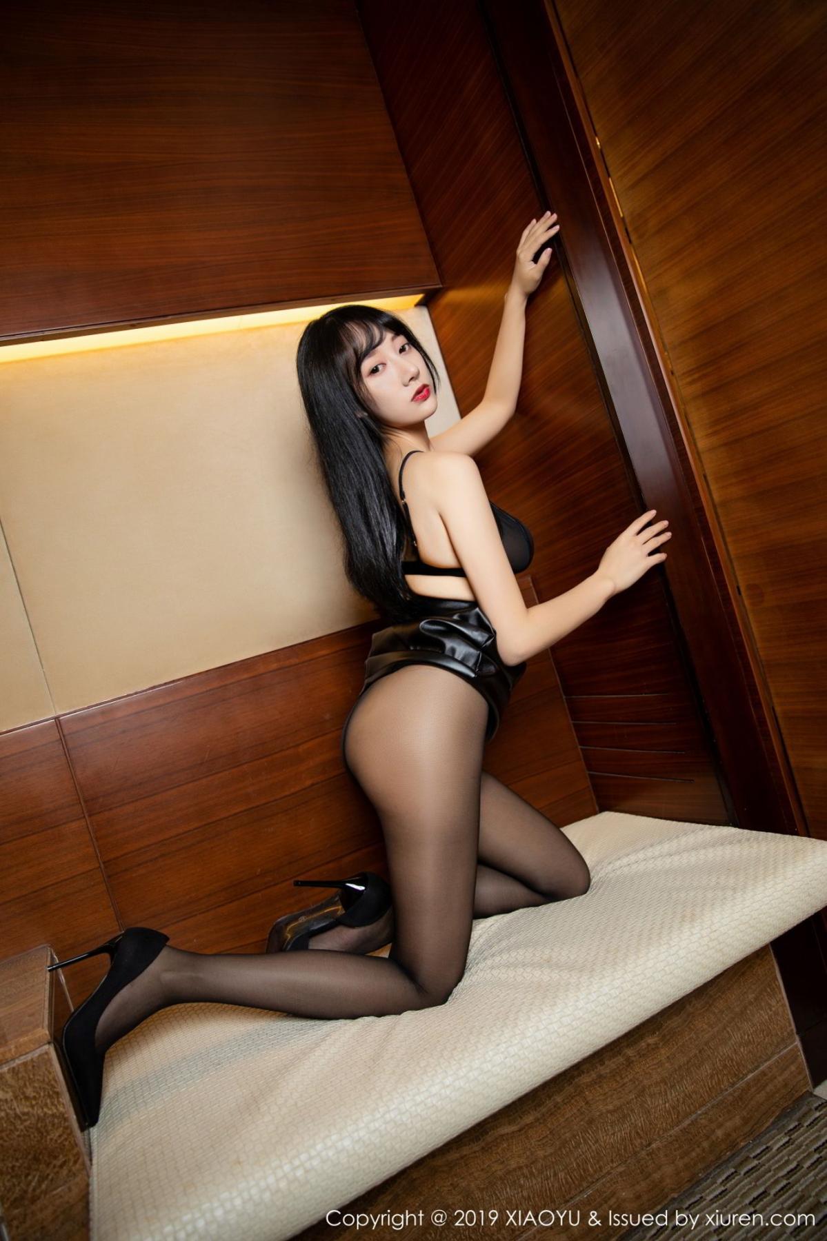 [XiaoYu] Vol.092 He Jia Ying 35P, Black Silk, He Jia Ying, Tall, Underwear, XiaoYu