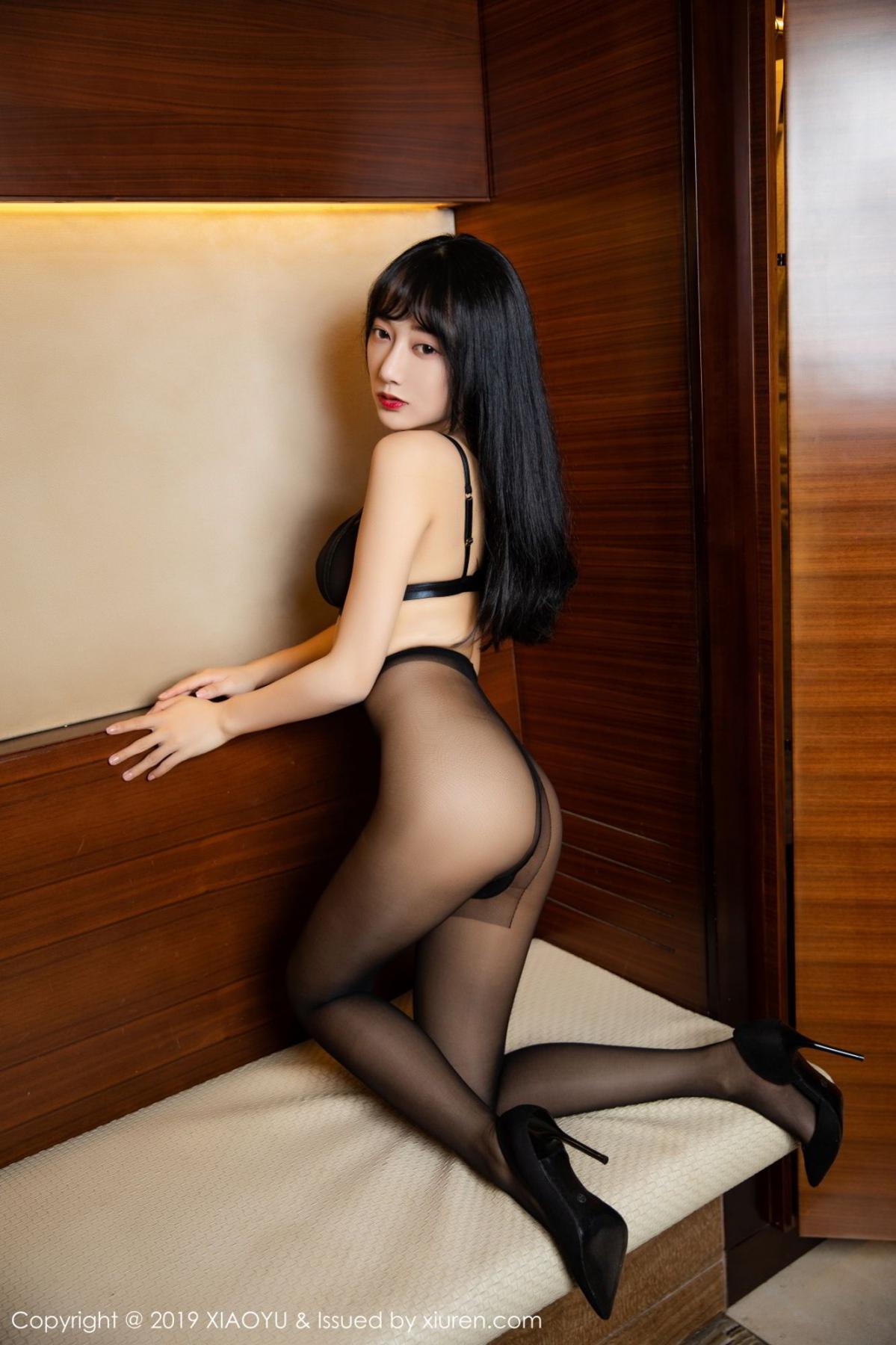 [XiaoYu] Vol.092 He Jia Ying 37P, Black Silk, He Jia Ying, Tall, Underwear, XiaoYu