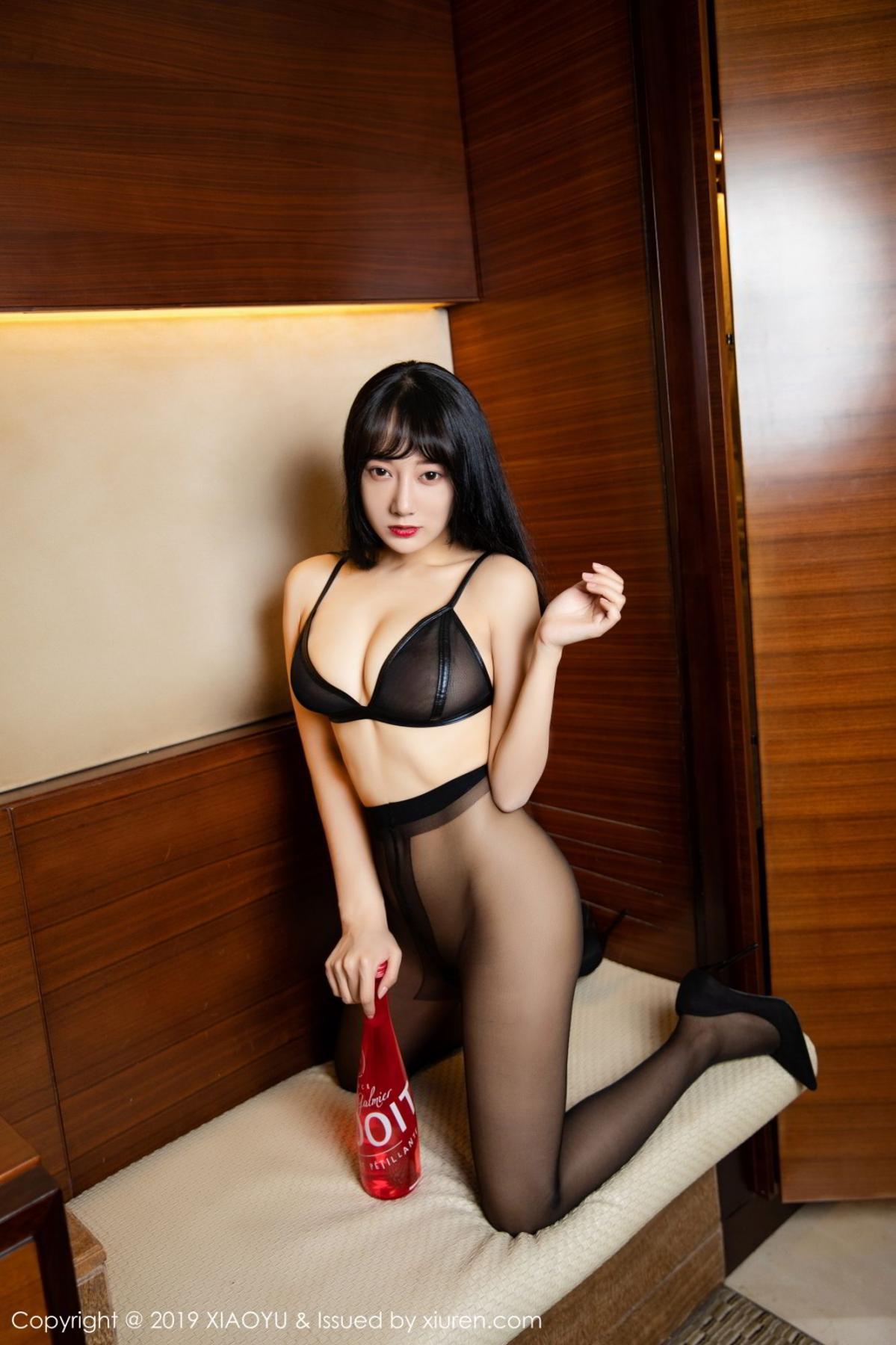 [XiaoYu] Vol.092 He Jia Ying 38P, Black Silk, He Jia Ying, Tall, Underwear, XiaoYu
