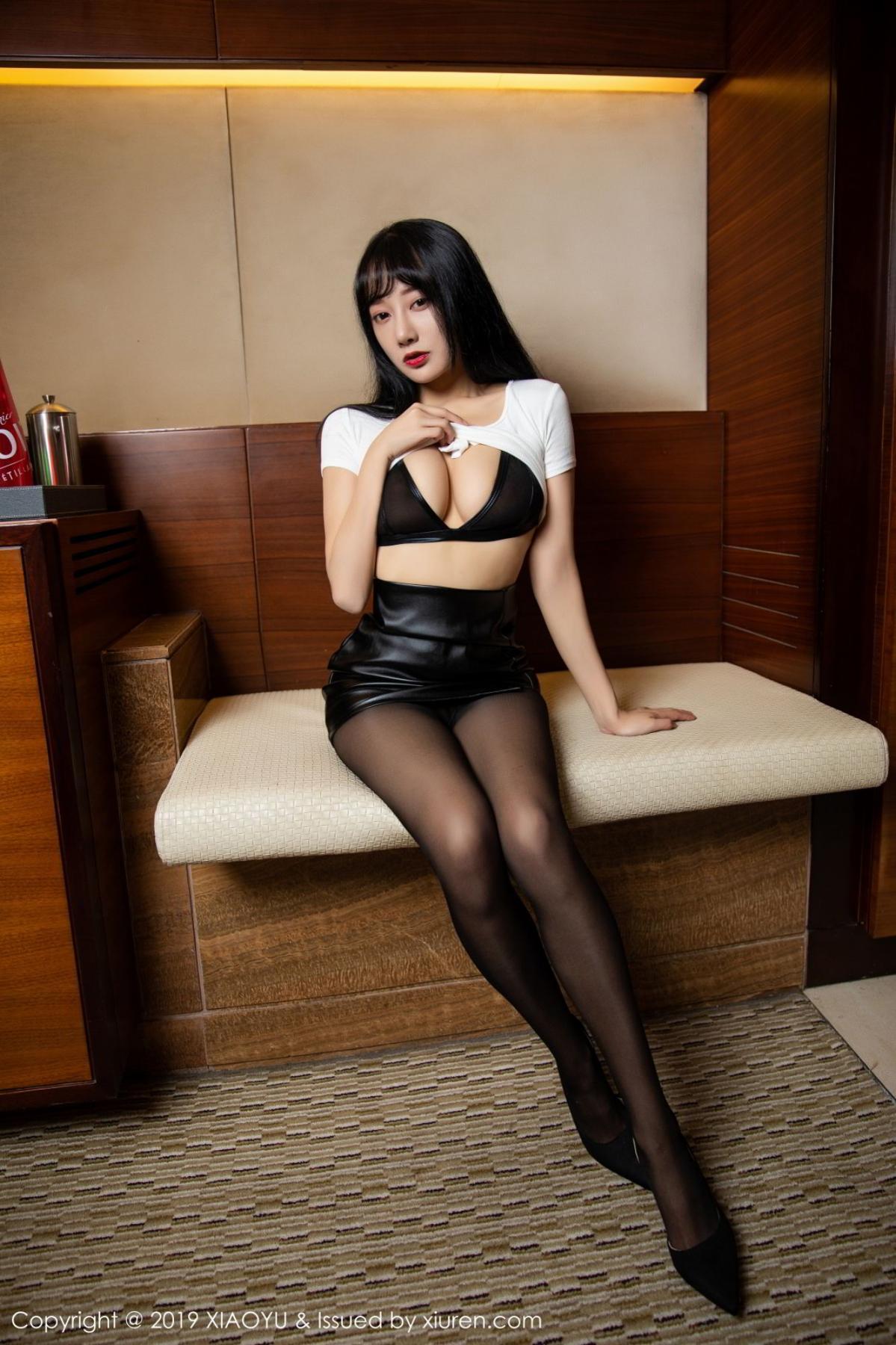 [XiaoYu] Vol.092 He Jia Ying 3P, Black Silk, He Jia Ying, Tall, Underwear, XiaoYu