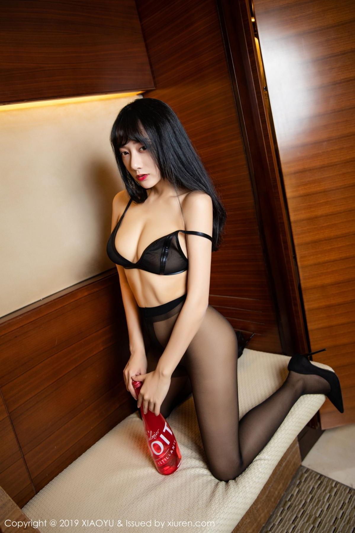 [XiaoYu] Vol.092 He Jia Ying 40P, Black Silk, He Jia Ying, Tall, Underwear, XiaoYu