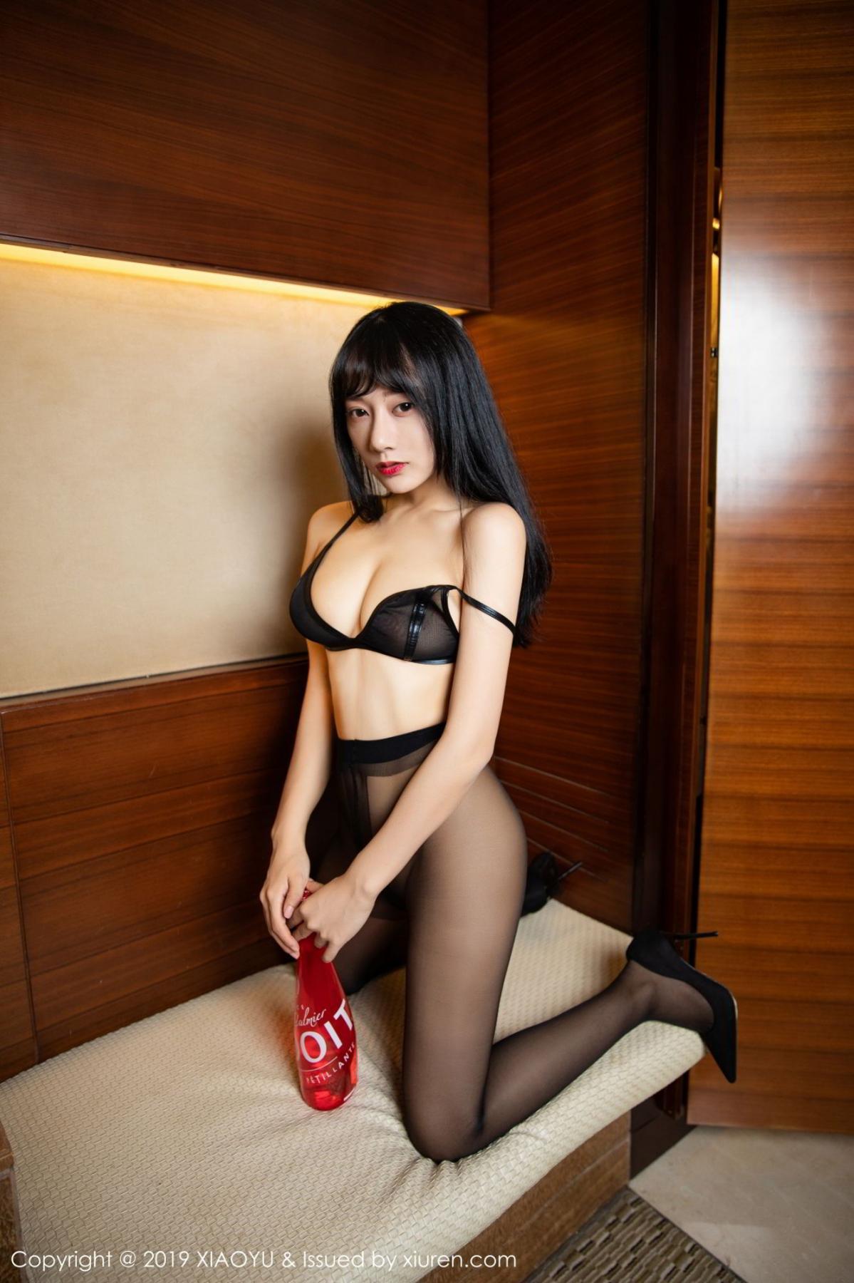 [XiaoYu] Vol.092 He Jia Ying 41P, Black Silk, He Jia Ying, Tall, Underwear, XiaoYu