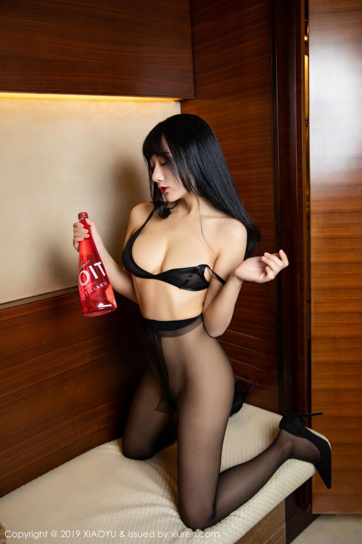 [XiaoYu] Vol.092 He Jia Ying 43P, Black Silk, He Jia Ying, Tall, Underwear, XiaoYu