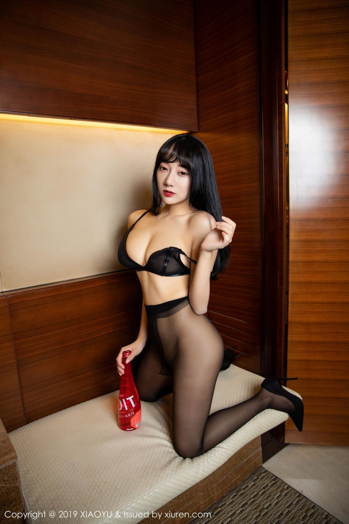 [XiaoYu] Vol.092 He Jia Ying 44P, Black Silk, He Jia Ying, Tall, Underwear, XiaoYu