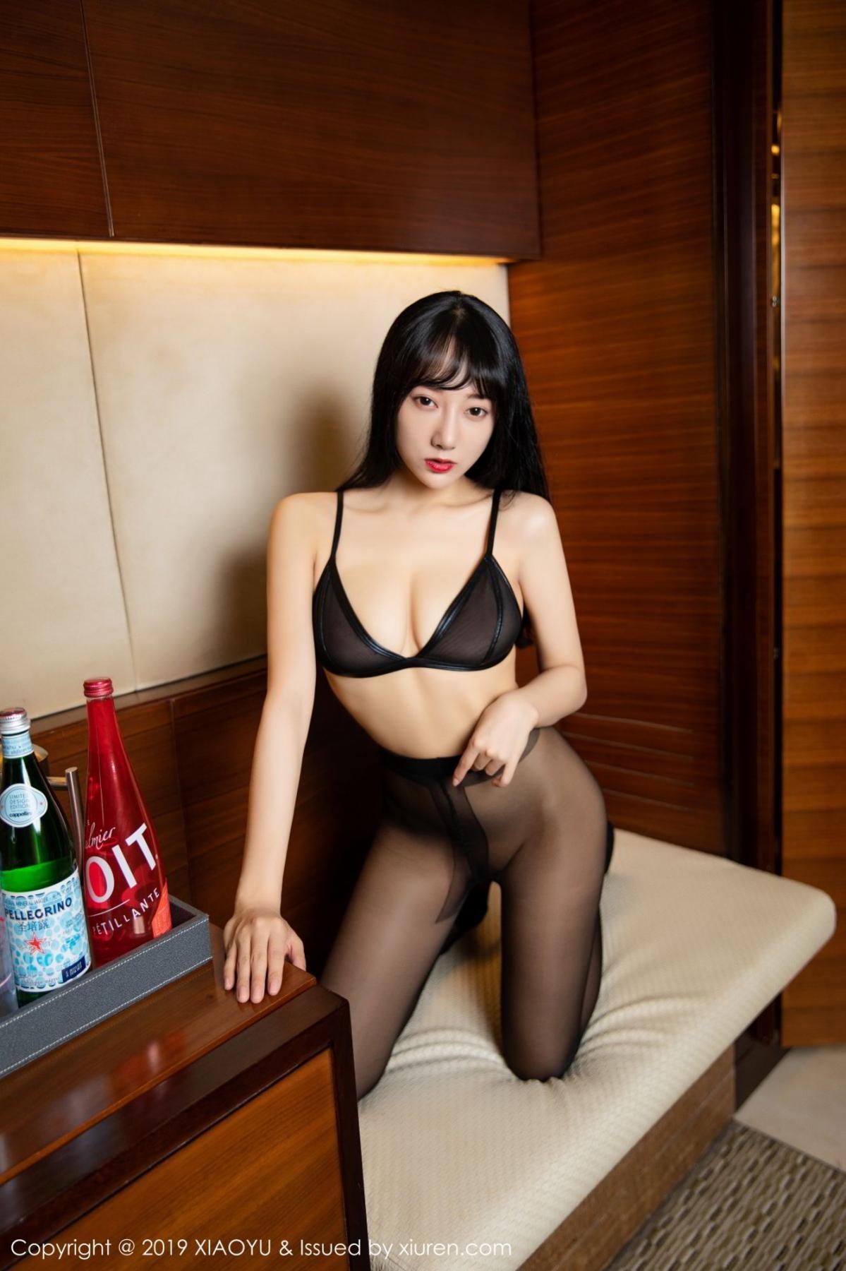 [XiaoYu] Vol.092 He Jia Ying 48P, Black Silk, He Jia Ying, Tall, Underwear, XiaoYu