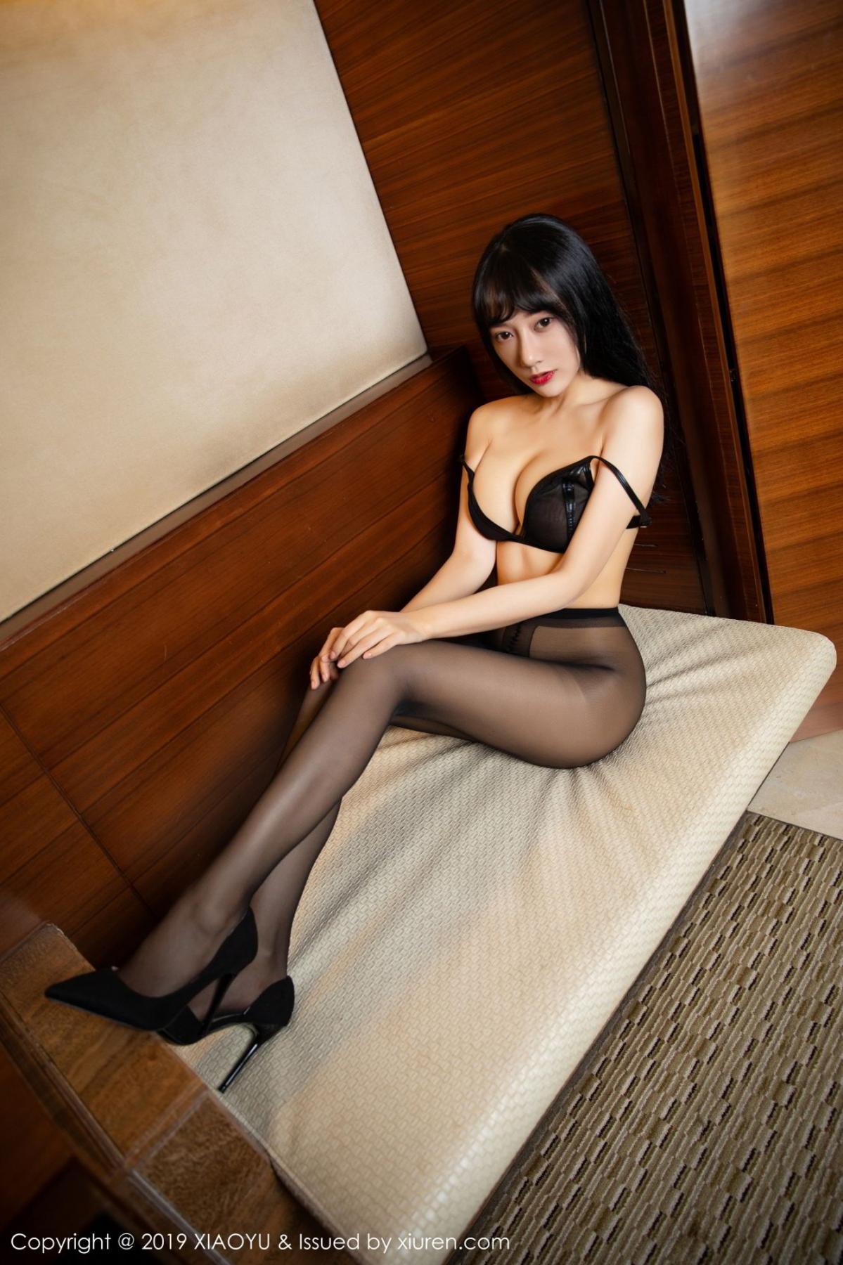 [XiaoYu] Vol.092 He Jia Ying 53P, Black Silk, He Jia Ying, Tall, Underwear, XiaoYu