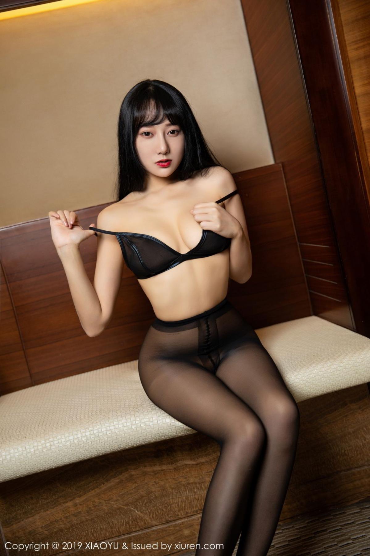 [XiaoYu] Vol.092 He Jia Ying 59P, Black Silk, He Jia Ying, Tall, Underwear, XiaoYu