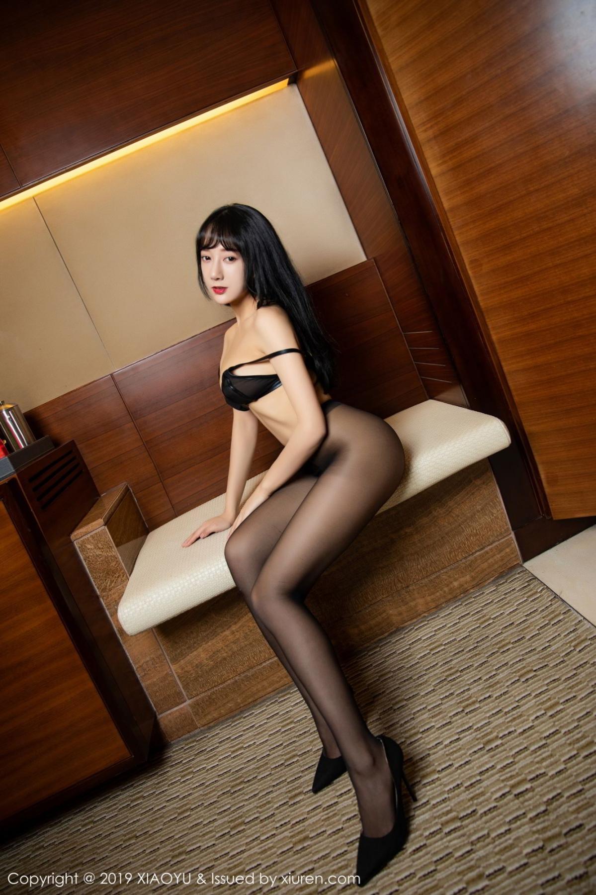 [XiaoYu] Vol.092 He Jia Ying 60P, Black Silk, He Jia Ying, Tall, Underwear, XiaoYu