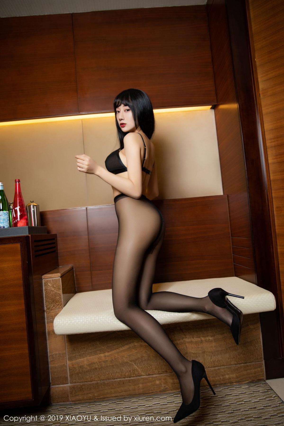 [XiaoYu] Vol.092 He Jia Ying 61P, Black Silk, He Jia Ying, Tall, Underwear, XiaoYu