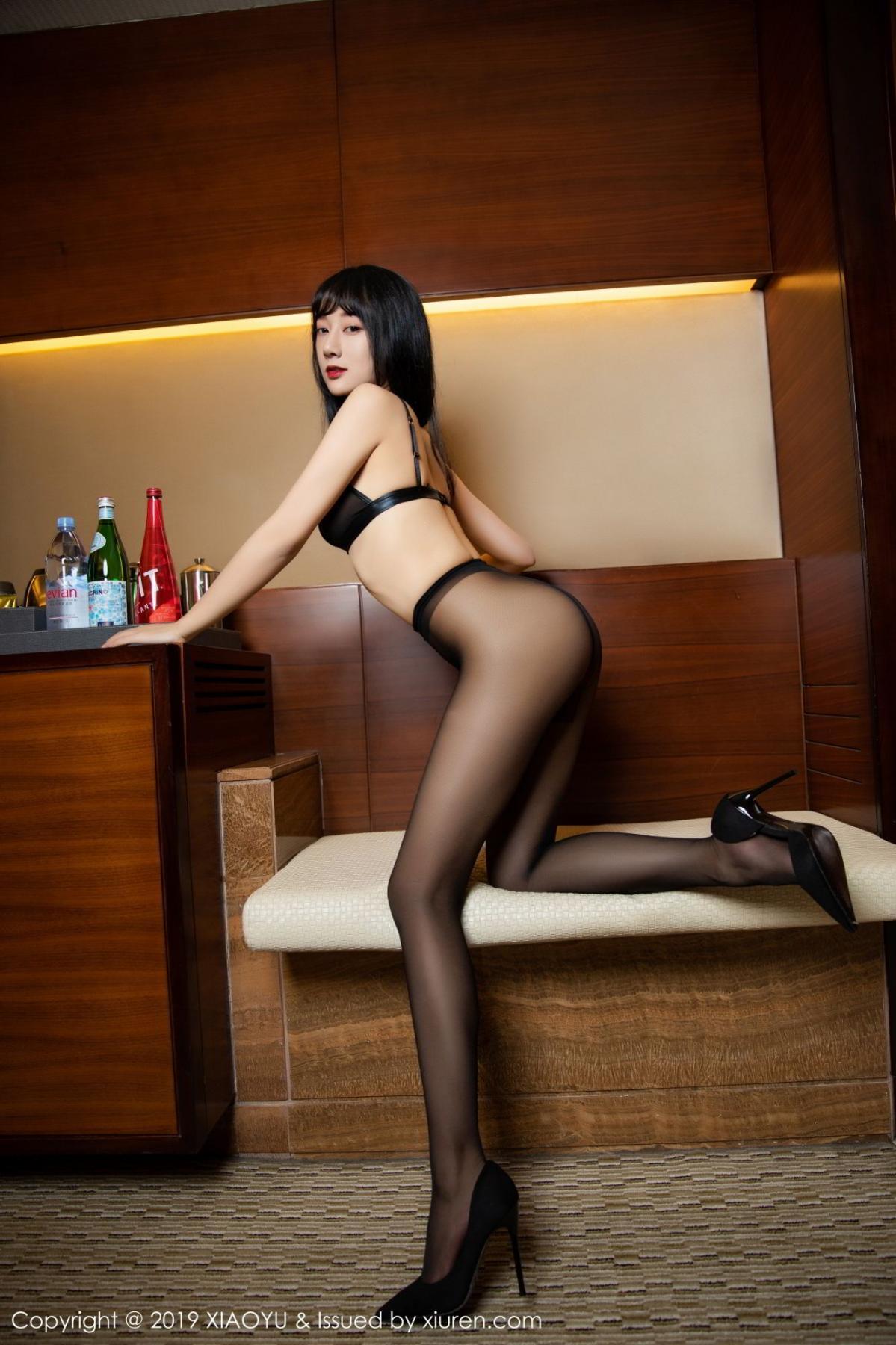 [XiaoYu] Vol.092 He Jia Ying 63P, Black Silk, He Jia Ying, Tall, Underwear, XiaoYu