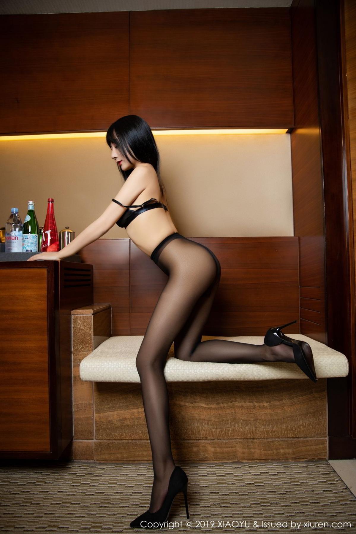 [XiaoYu] Vol.092 He Jia Ying 64P, Black Silk, He Jia Ying, Tall, Underwear, XiaoYu