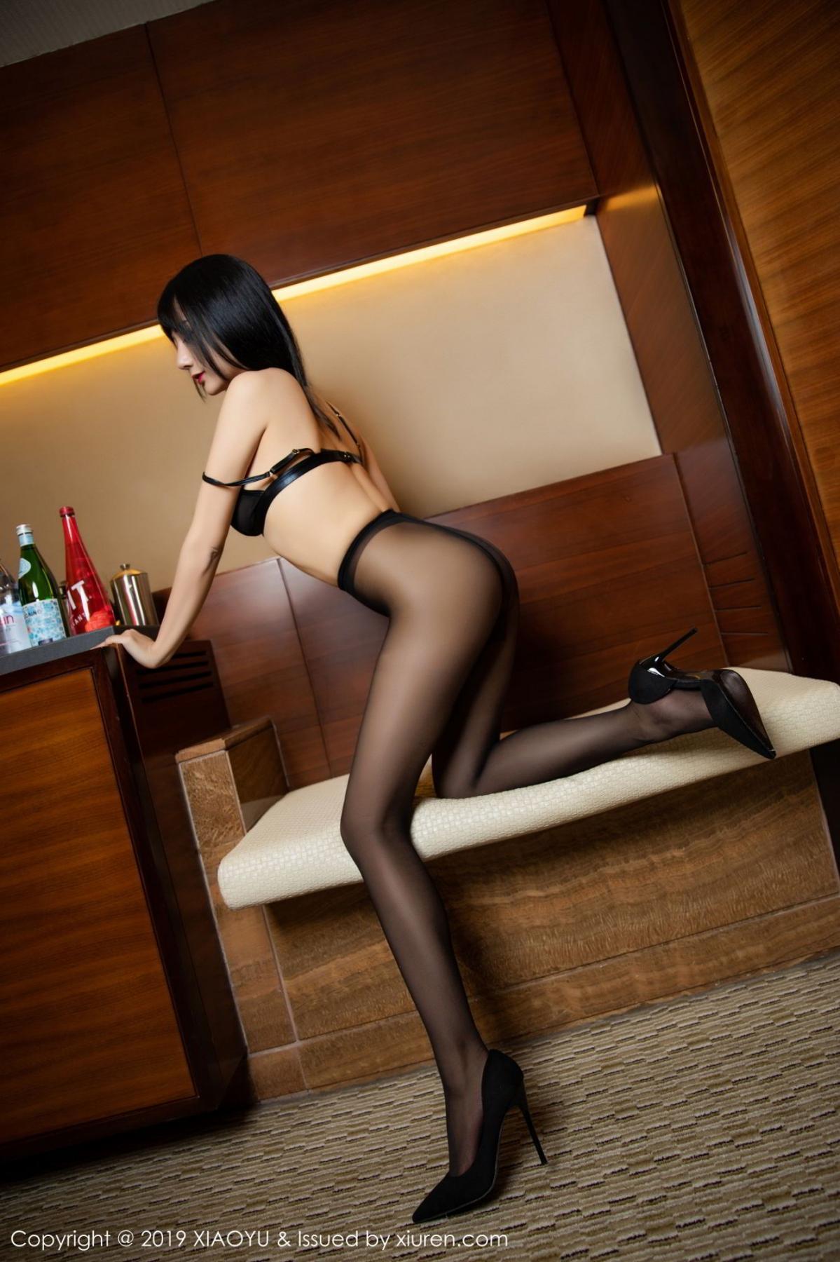 [XiaoYu] Vol.092 He Jia Ying 66P, Black Silk, He Jia Ying, Tall, Underwear, XiaoYu