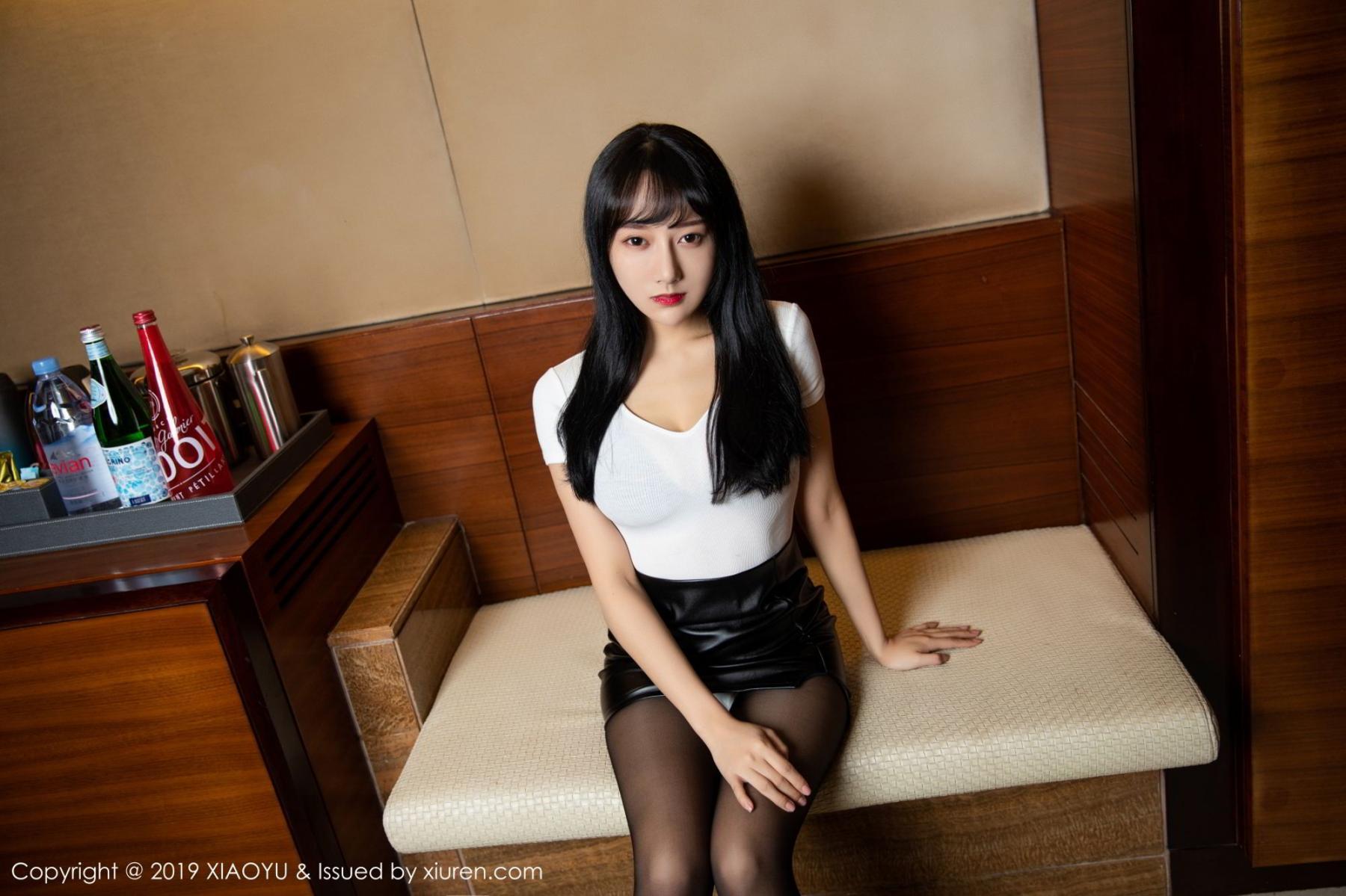 [XiaoYu] Vol.092 He Jia Ying 6P, Black Silk, He Jia Ying, Tall, Underwear, XiaoYu