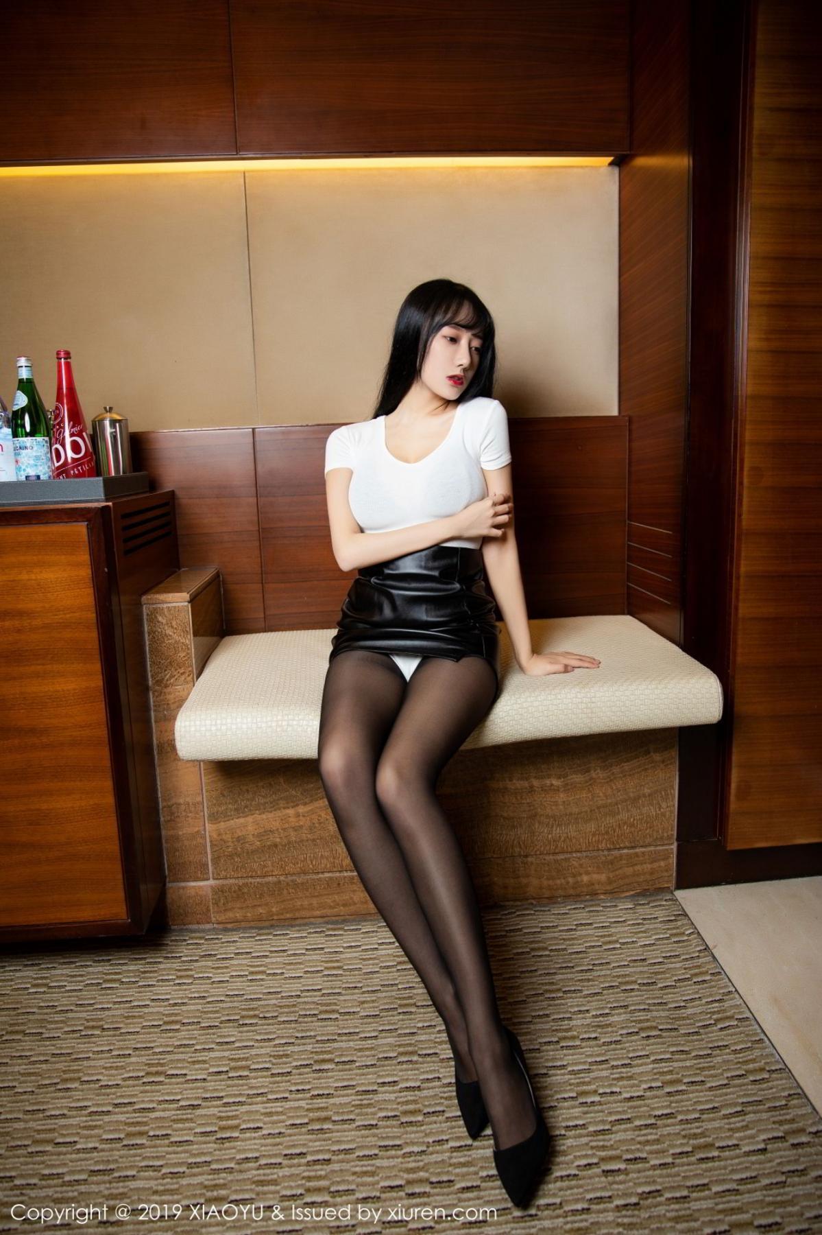 [XiaoYu] Vol.092 He Jia Ying 7P, Black Silk, He Jia Ying, Tall, Underwear, XiaoYu