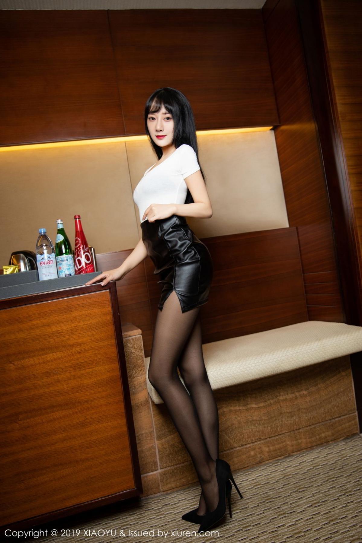 [XiaoYu] Vol.092 He Jia Ying 8P, Black Silk, He Jia Ying, Tall, Underwear, XiaoYu