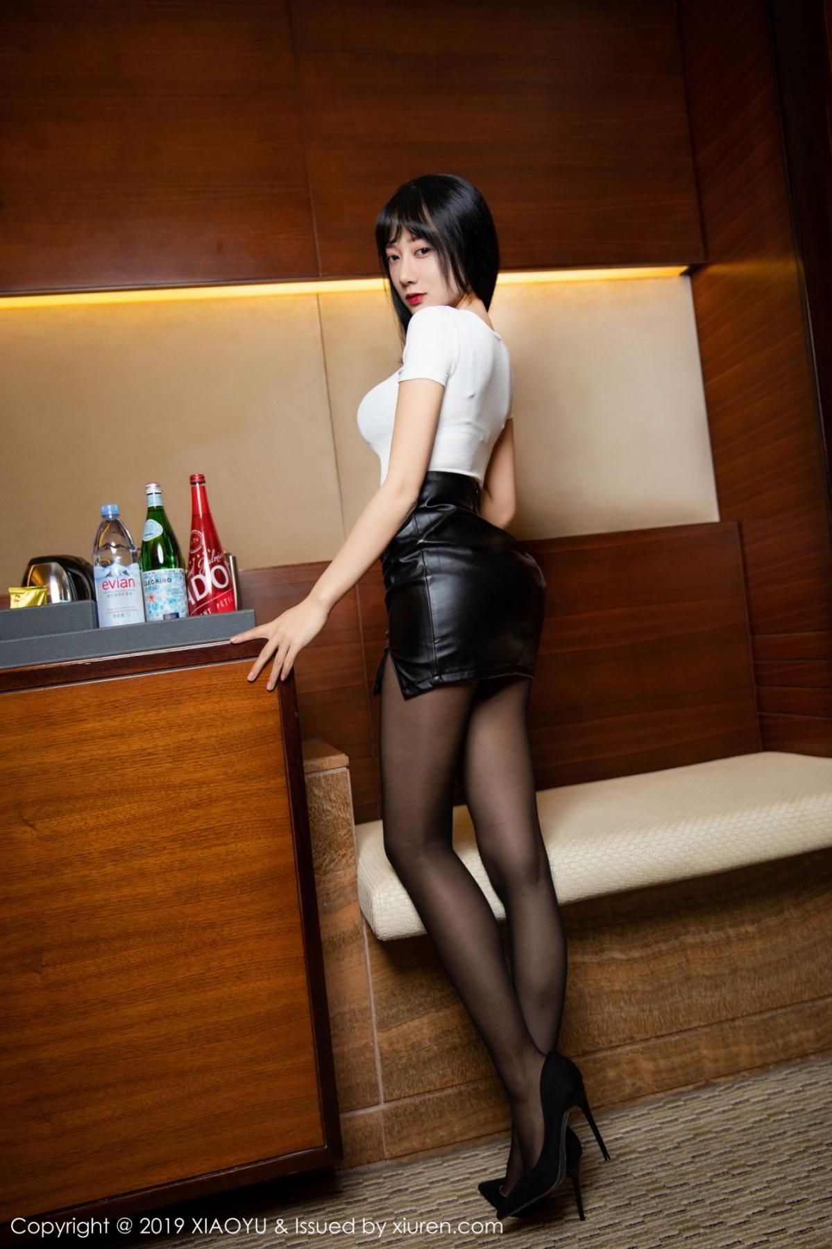 [XiaoYu] Vol.092 He Jia Ying 9P, Black Silk, He Jia Ying, Tall, Underwear, XiaoYu