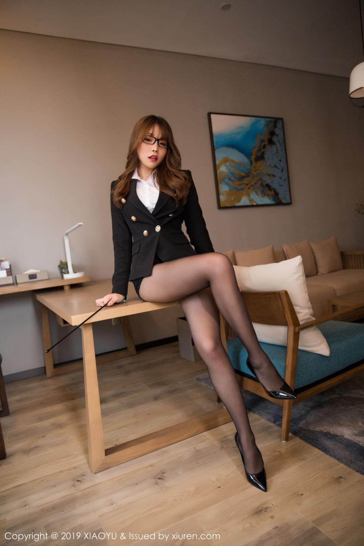 [XiaoYu] Vol.095 Chen Zhi 10P, Big Booty, Black Silk, Chen Zhi, Uniform, XiaoYu