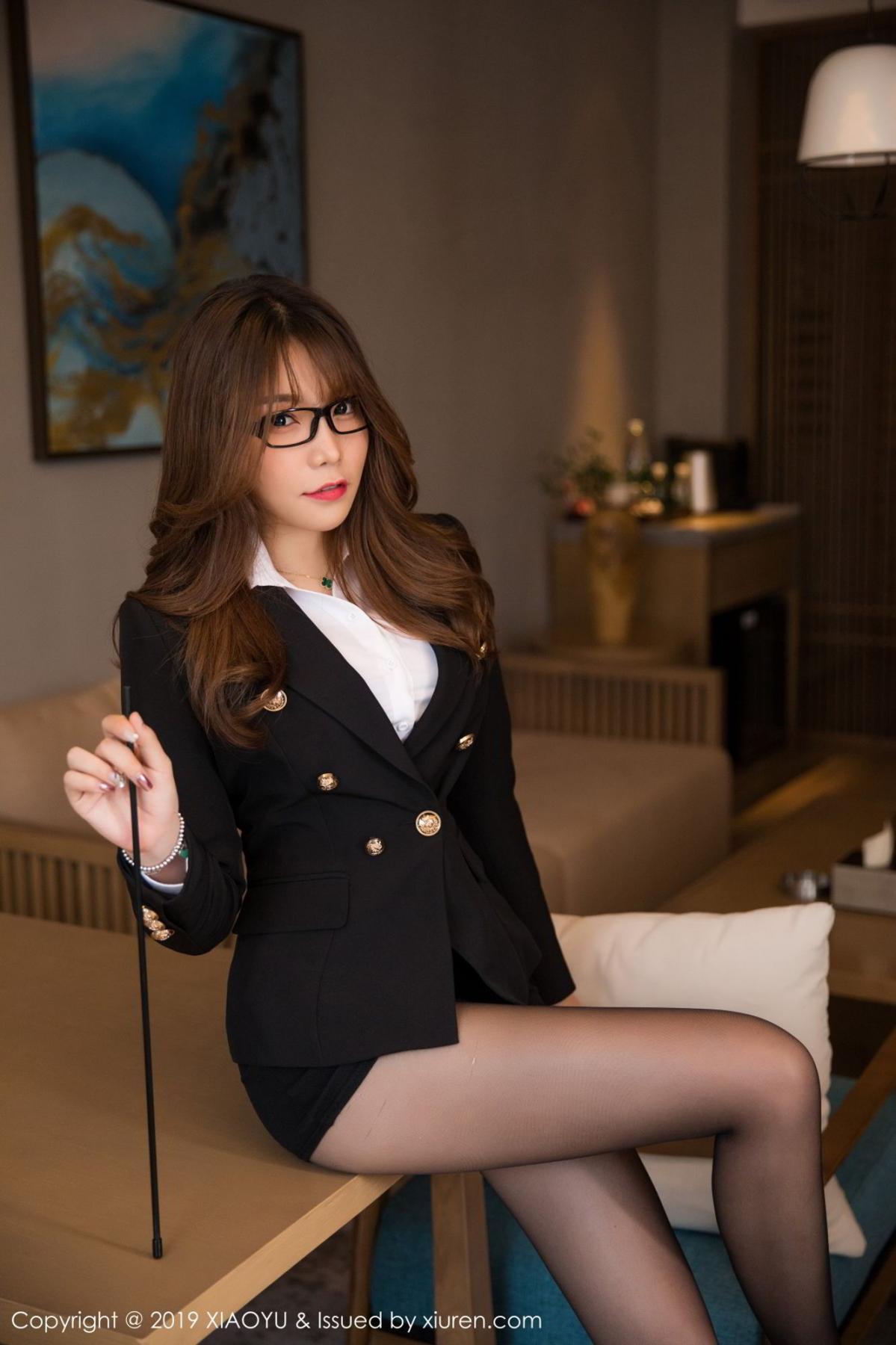 [XiaoYu] Vol.095 Chen Zhi 12P, Big Booty, Black Silk, Chen Zhi, Uniform, XiaoYu