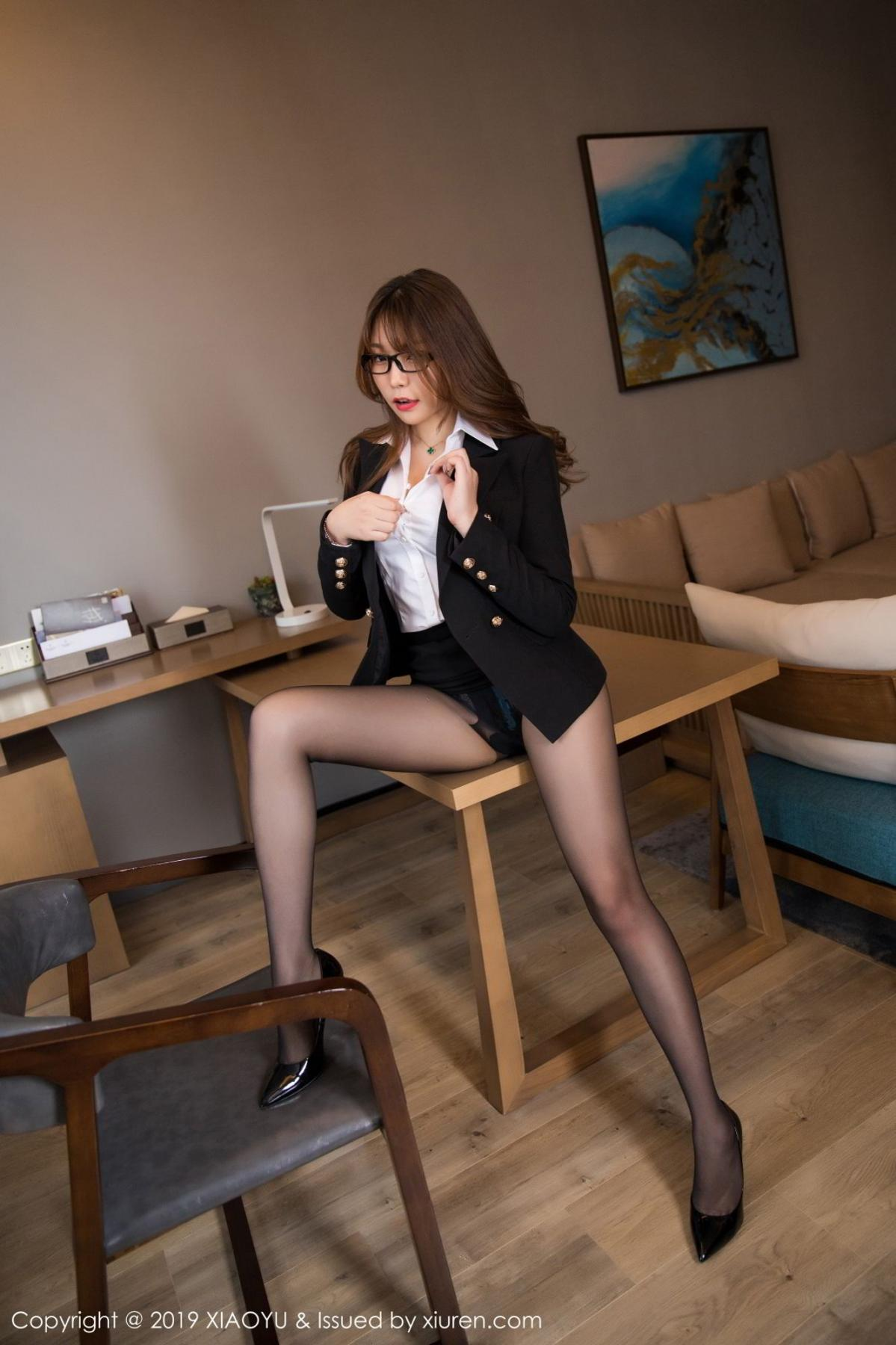 [XiaoYu] Vol.095 Chen Zhi 18P, Big Booty, Black Silk, Chen Zhi, Uniform, XiaoYu