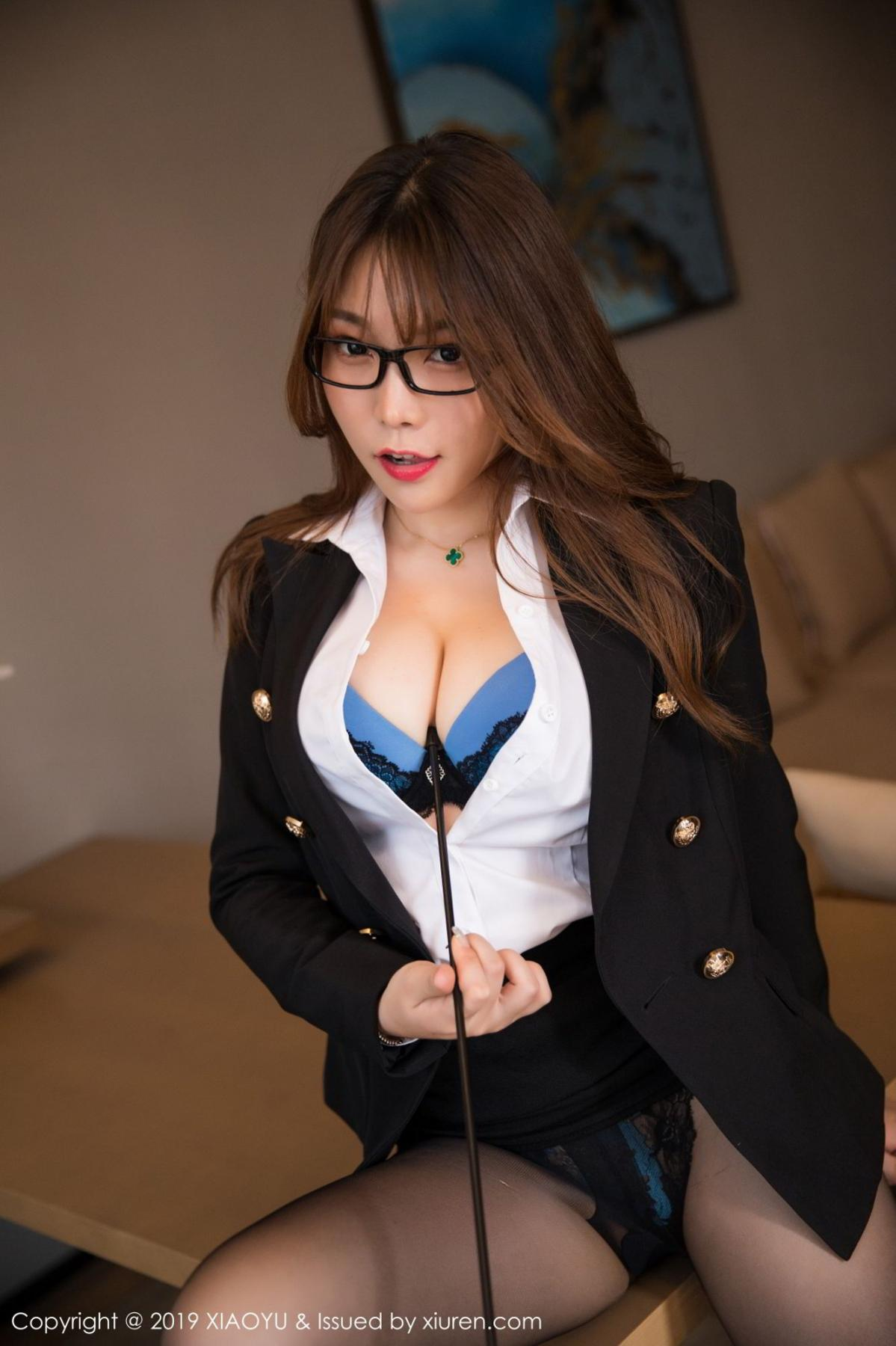 [XiaoYu] Vol.095 Chen Zhi 19P, Big Booty, Black Silk, Chen Zhi, Uniform, XiaoYu